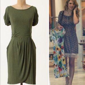 SzS Moss Green Anthropologie Jersey Dress
